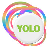 YOLO - Dig endast Live Once Random Colorful Rings vektor illustrationer