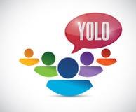 yolo het teken van de mensendiversiteit Illustratie Stock Foto's