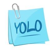 Yolo memo post illustration design Royalty Free Stock Photo