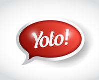 Yolo message bubble illustration design Royalty Free Stock Images