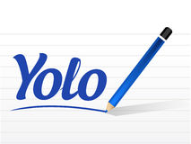 Yolo sign message illustration design Royalty Free Stock Images
