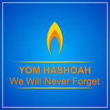 Yom Hashoah Abstract illustrazione di stock