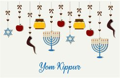 Yom Kippur. Card or background. vector illustration Royalty Free Stock Photos