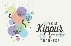 Yom kippur groet stock illustratie