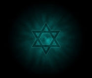 Yom Kippur  jewish background with David Star Stock Photography