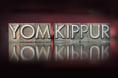 Yom Kippur Letterpress. The holiday Yom Kippur written in vintage letterpress type Royalty Free Stock Photography