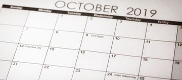 Yom Kippur no foco seletivo em outubro de 2019 fotos de stock