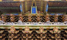 Yomeimon门细节在日光Toshogu祀奉 免版税库存图片