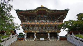 Yomeimon gate of Kosanji Temple in Japan royalty free stock photos