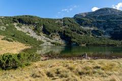 Yonchevo lake and green hills,  Rila Mountain Royalty Free Stock Photography