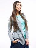 yong妇女偶然画象,微笑,美好的模型画象  图库摄影