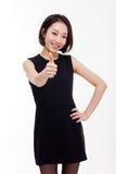 Yong相当亚裔女商人 免版税库存照片