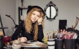Yong Artist Girl Lizenzfreie Stockbilder