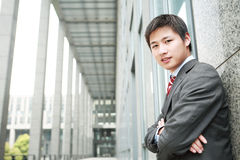 Yong Asiatic businessman Stock Images