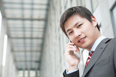 A yong Asiatic businessman Royalty Free Stock Images