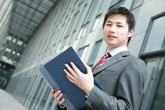 A yong Asiatic businessman Royalty Free Stock Photography