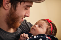 Yong Father with Baby Girl Royalty Free Stock Photo
