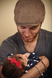 Yong Father with Baby Girl Royalty Free Stock Images
