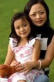 Yong-Frau und ihre Tochter no.4 Stockbild