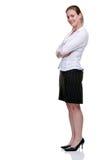 Yong-Geschäftsfrau in der Bluse und im Rock Lizenzfreies Stockfoto