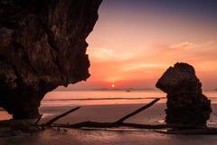 Yong Ling Beach, Sikao, Trang, Ταϊλάνδη Στοκ φωτογραφία με δικαίωμα ελεύθερης χρήσης