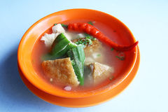 Yong Tau Foo dish - Series 4. Yong Tau Foo, a Hakka Chinese cuisine consisting of tofu and vegetables stuffed with ground meat mixture or fish paste Stock Images