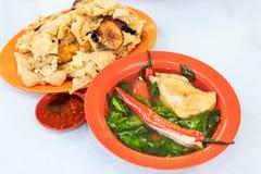 Yong Tau Fu, alimento cinese di hakka popolare in Malesia fotografie stock libere da diritti