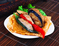Yong Tau Fu. Asian cuisine fish paste stuffed Royalty Free Stock Images
