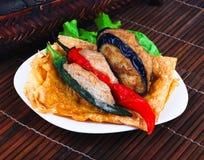 Free Yong Tau Fu. Asian Cuisine Fish Paste Stuffed Royalty Free Stock Images - 27547119