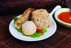 Yong Tau Fu. Stoppad asiatisk kokkonst av fiskpaste Royaltyfria Bilder