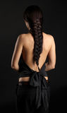 Yong woman with Braided Hair Stock Image