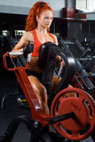 Yong woman in a health club Royalty Free Stock Image