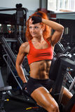 Yong woman in a health club Royalty Free Stock Images