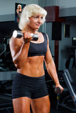 Yong woman in a health club Royalty Free Stock Photography
