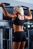 Yong woman in a health club Royalty Free Stock Photos