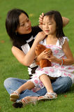 Yong woman and her daughter no.3 Stock Image