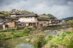 ¼ ŒYongding de Villageï do chinês, Fujian foto de stock