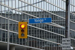 Yonge Street Sign - Toronto - Canada Royalty Free Stock Photos