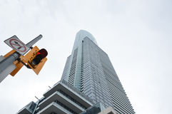 Yonge Street Sign and Traffic light Toronto downtown Stock Image