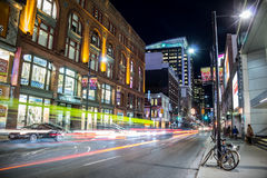 Yonge Street South at Night Stock Image
