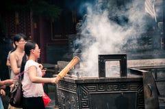 Yonghegong Lama Temple Royaltyfri Fotografi