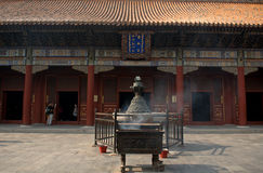 Yonghegong Lama Temple, Beijing, China Stock Images