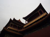 Yonghegong Lama Temple.The Hall of Harmony and Peace.One of the Royalty Free Stock Images
