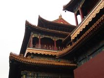 Yonghegong Lama Temple.The Hall of Harmony and Peace.One of the Royalty Free Stock Photography