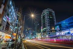Yonghwa-ro de Hongdae imagem de stock royalty free