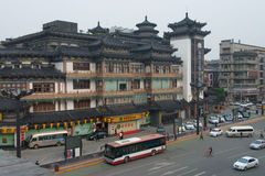 Yongning Hotel near South Gate of City Wall Xian. China royalty free stock images