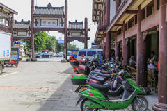 Yongning-Stadt in Sichuan, Porzellan Stockbild
