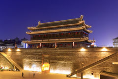 Yongningmen gate of the xian circumvallation night sight Royalty Free Stock Images