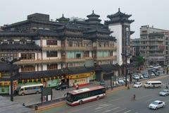 Yongningshotel dichtbij Zuidenpoort van Stadsmuur Xian Royalty-vrije Stock Afbeeldingen