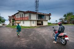 Yongoro,塞拉利昂,西非- Yongoro海滩  免版税图库摄影
